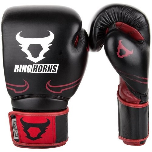Boxerské rukavice Destroyer Black/Red Ringhorns