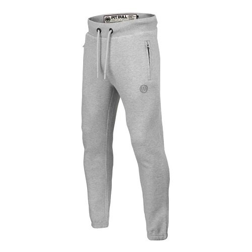 Tepláky French Premium Pique Small Logo Grey *L* PITBULL WEST COAST