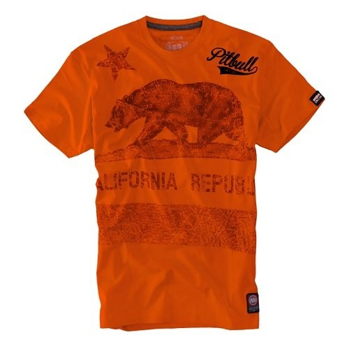 Triko California Flag Orange *L* PITBULL WEST COAST