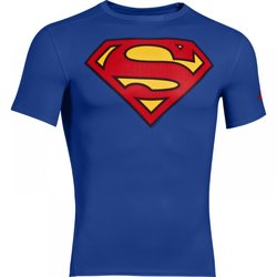 Kompresní triko SS HeatGear Superman *M* UNDER ARMOUR