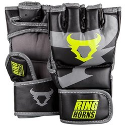 MMA rukavice Charger Black/Neo Yellow Ringhorns