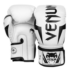 Boxerské rukavice Elite White/Black VENUM