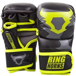 MMA rukavice Sparring Charger Black/Neo Yellow Ringhorns