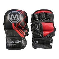 MMA rukavice sparring 2.0 Black/Red MUSASHI